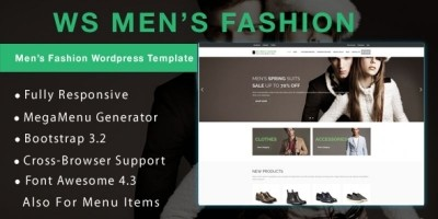 WS Mens Fashion –  WooCommerce Theme