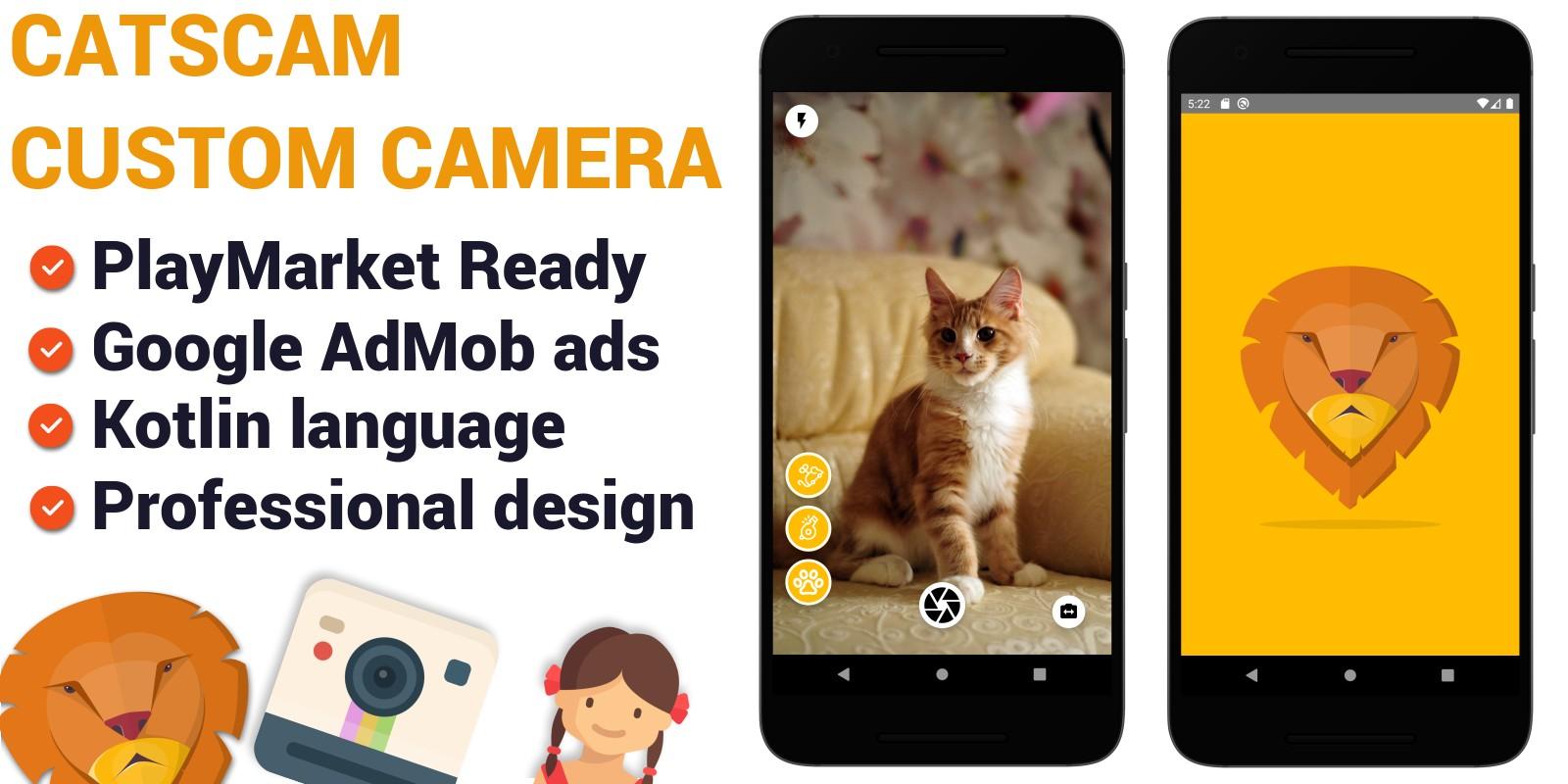 CatsCam - Android Custom Camera Source Code