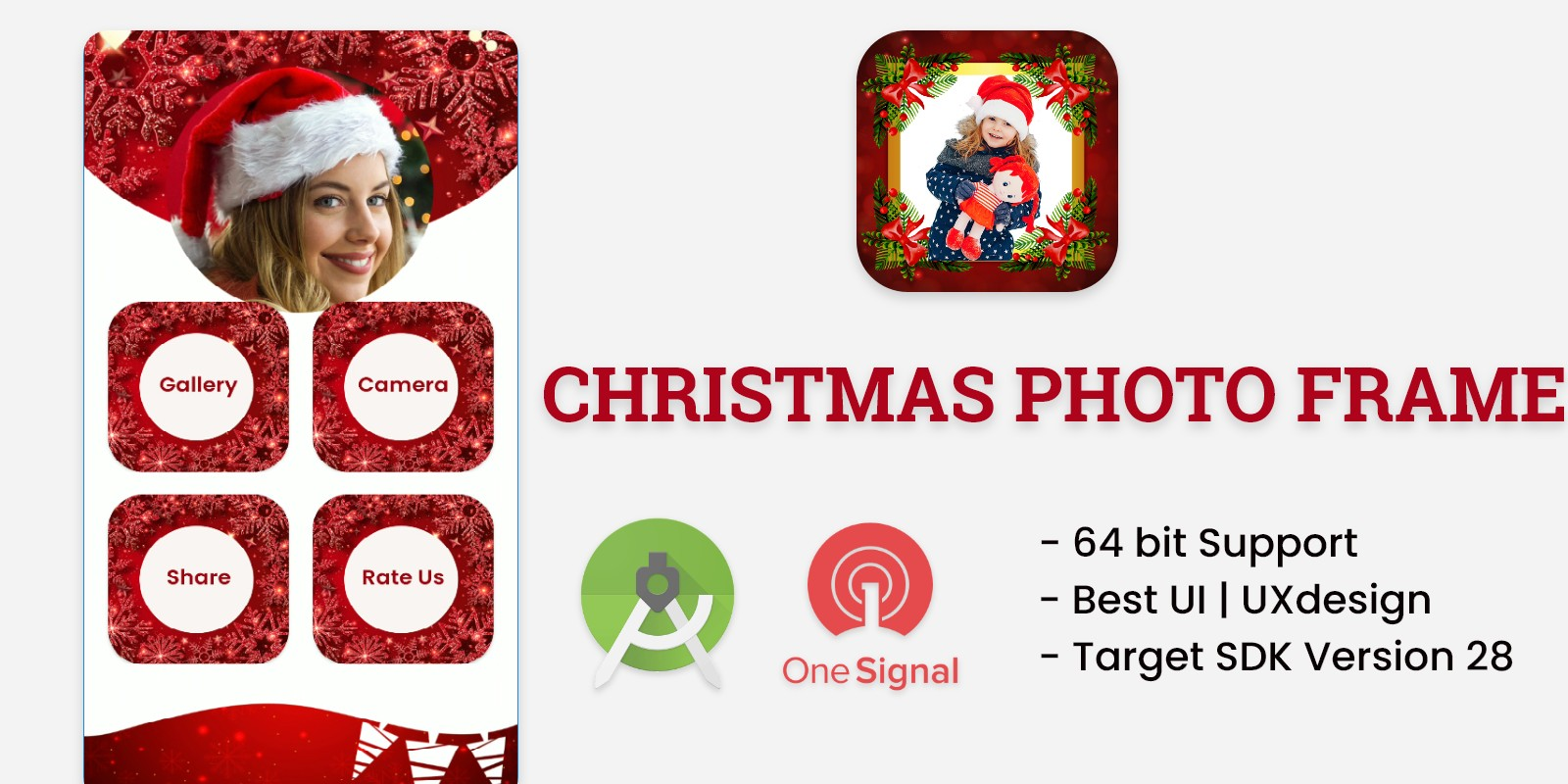 Christmas Photo Frame Android App Template
