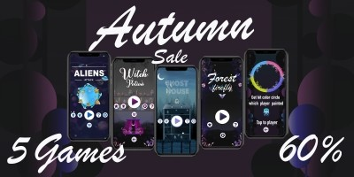 5 Unity Game Templates Autumn Bundle