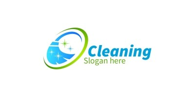 Cleaning Service Logo with Eco Friendly 3