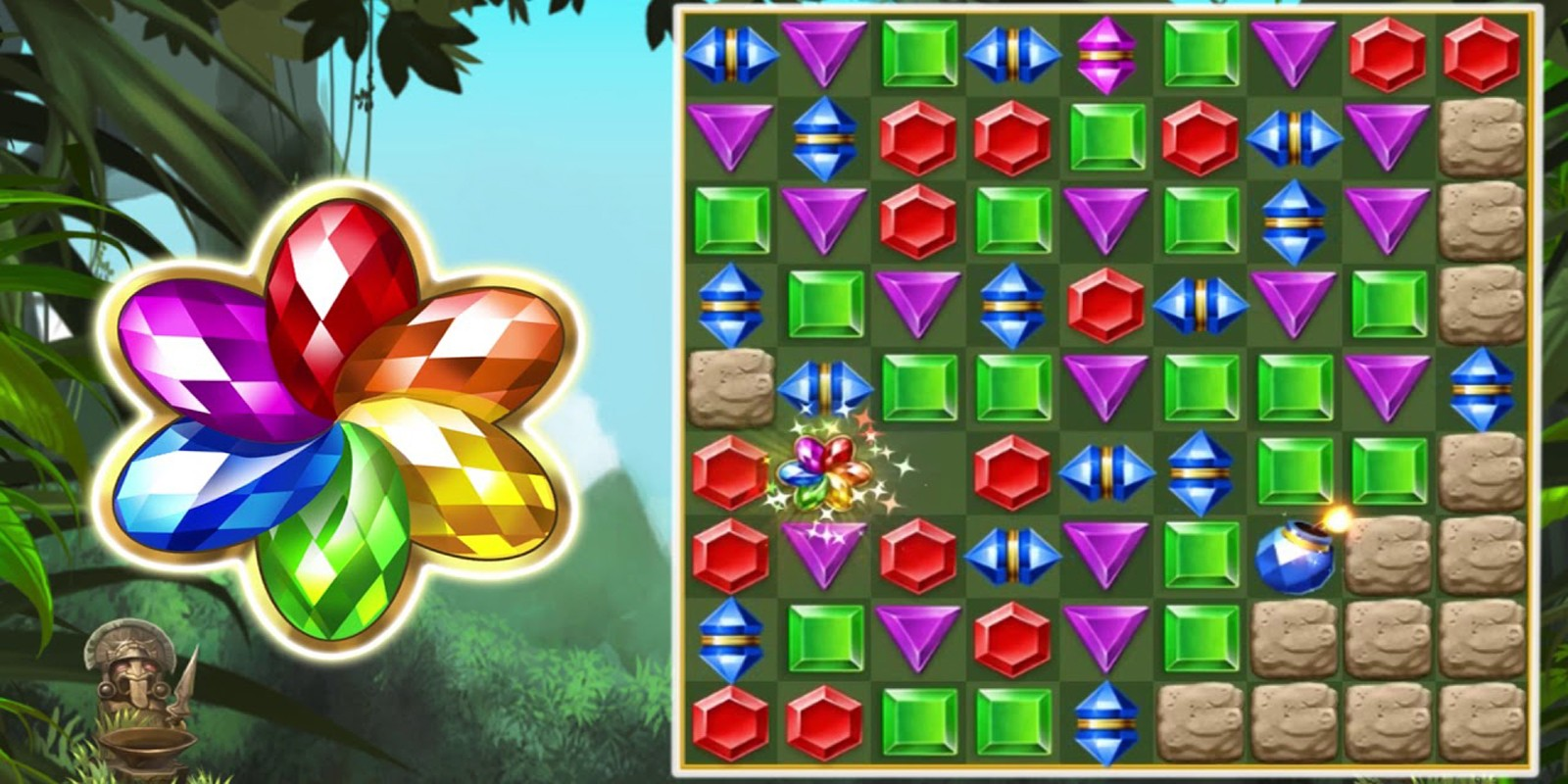 Match 3 Jewel Crush Puzzles  - Unity Project