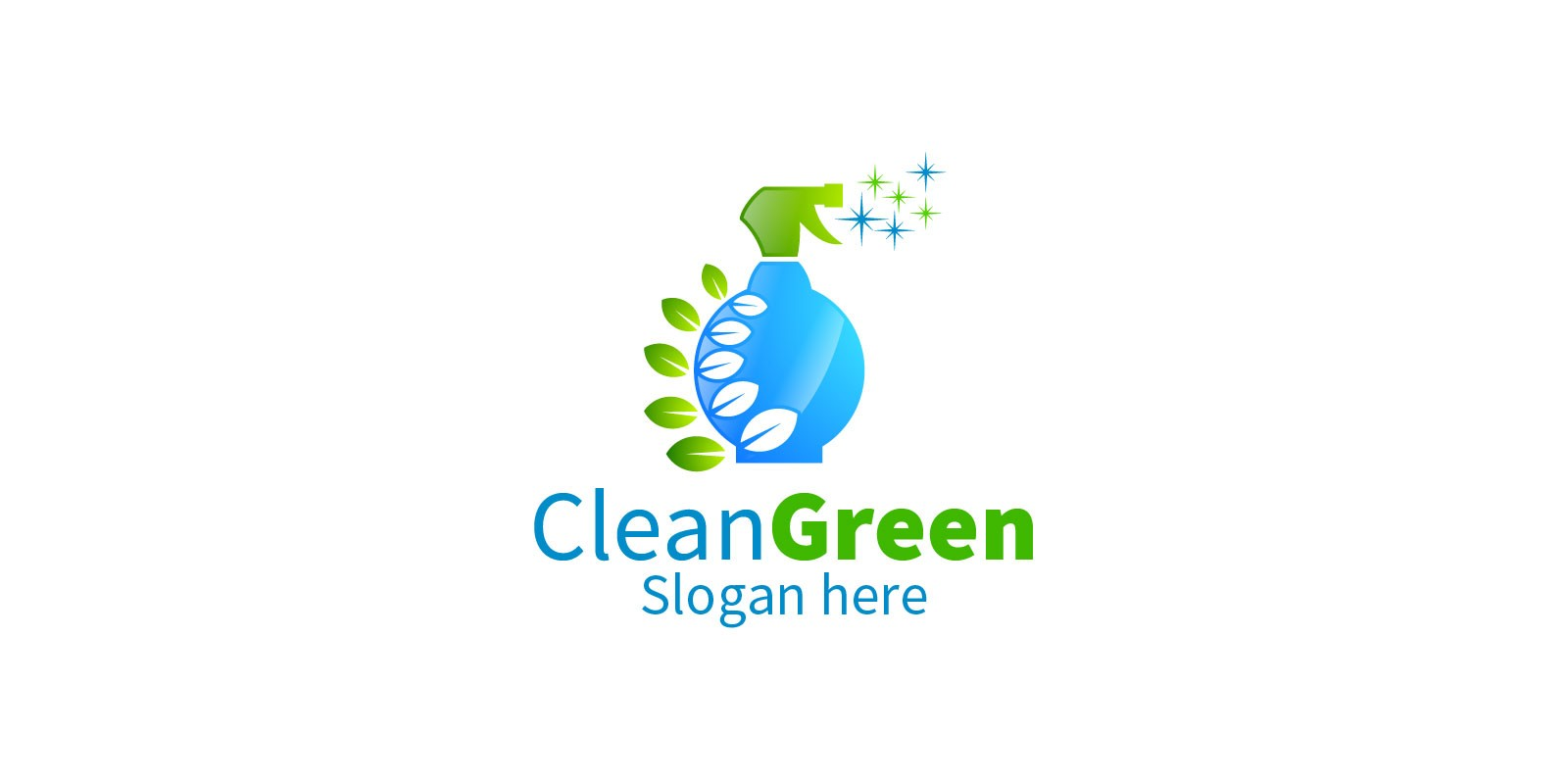 Cleaning Service Logo with Eco Friendly 22