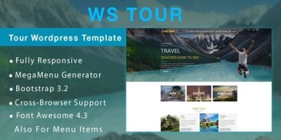 WS Tour – Travel  WooCommerce Wordpress Theme