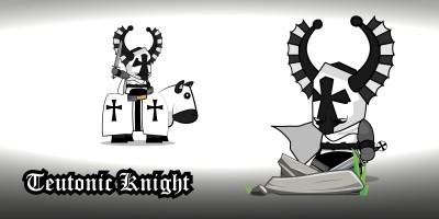 Chibi Crusader Knights 2D Character Sprites