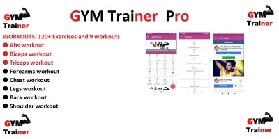 Gym Trainer Pro - Android App Template