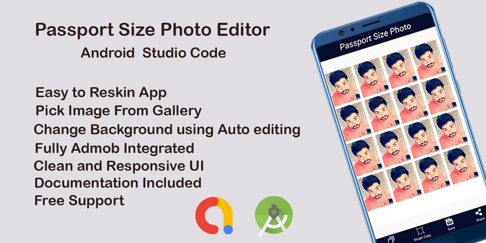 Passport Size Photo Maker - Android Template