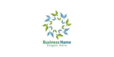 Natural Green Tree Logo with Ecology Leaf Design 5