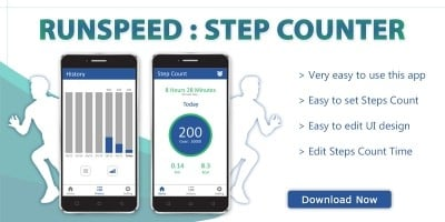 Runspeed - Step Counter Android App Template