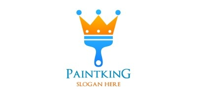 Paint King Vector Logo Design