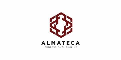 Almateca - Abstract Hexagon Logo