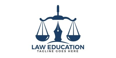 Law Education Logo Design
