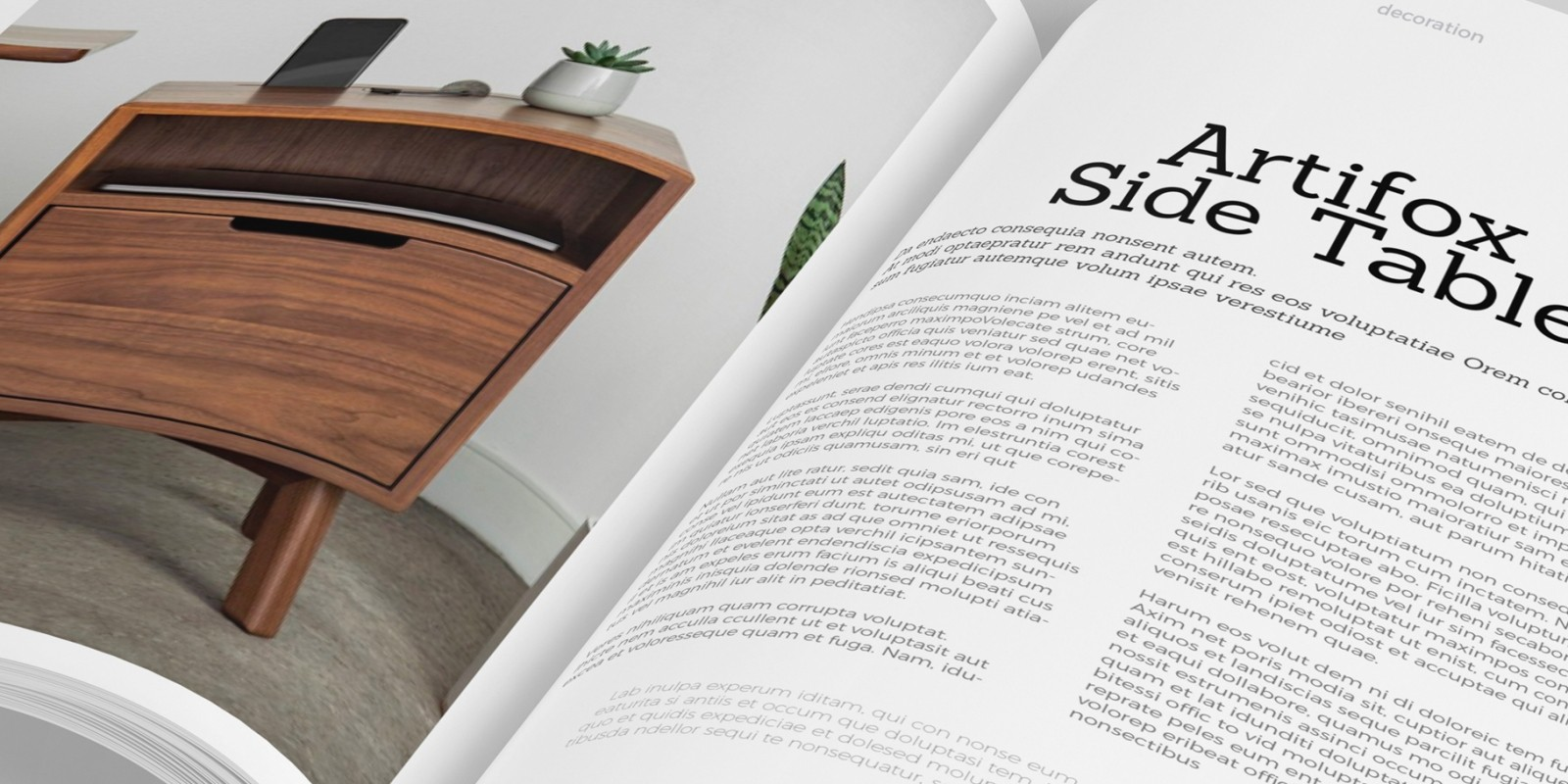 Design And Decoration Magazine Template