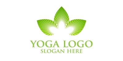 Yoga and Lotus Logo 1