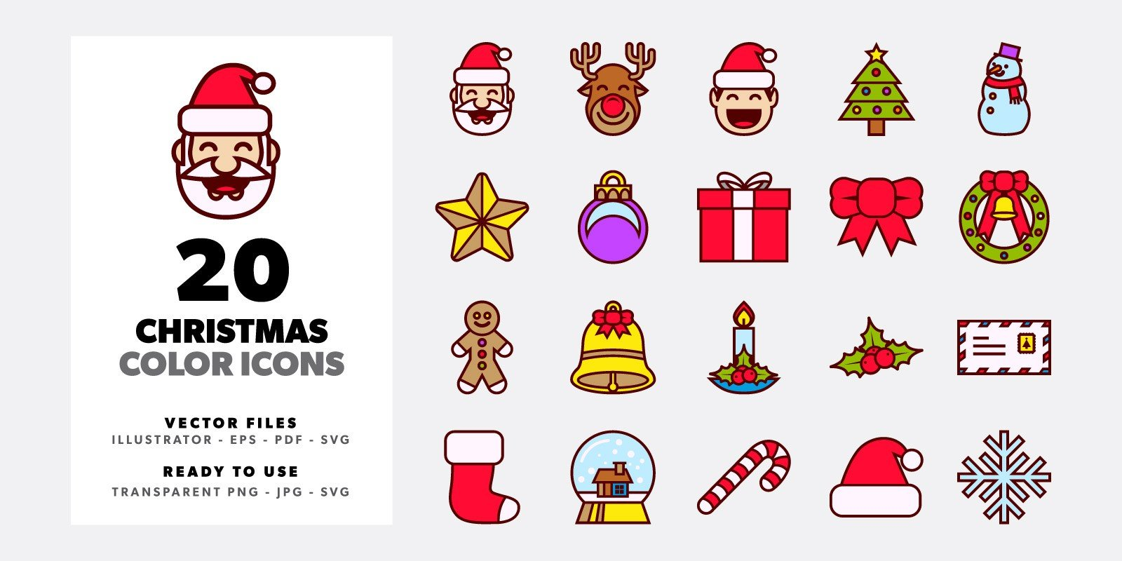 20 Christmas Color Icons