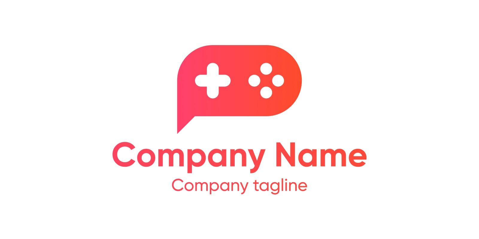 Message Gamepad Logo Template