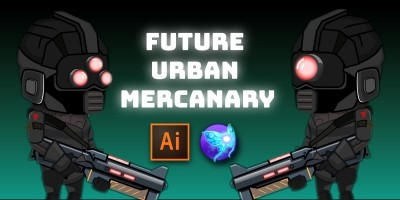 Future Urban Mercenary 2D Character Sprites