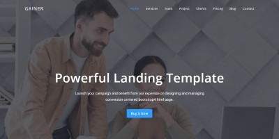 Gain - Website Landing Template