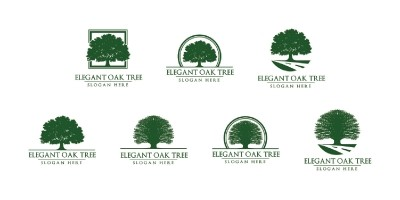 Green Oak Tree Logo