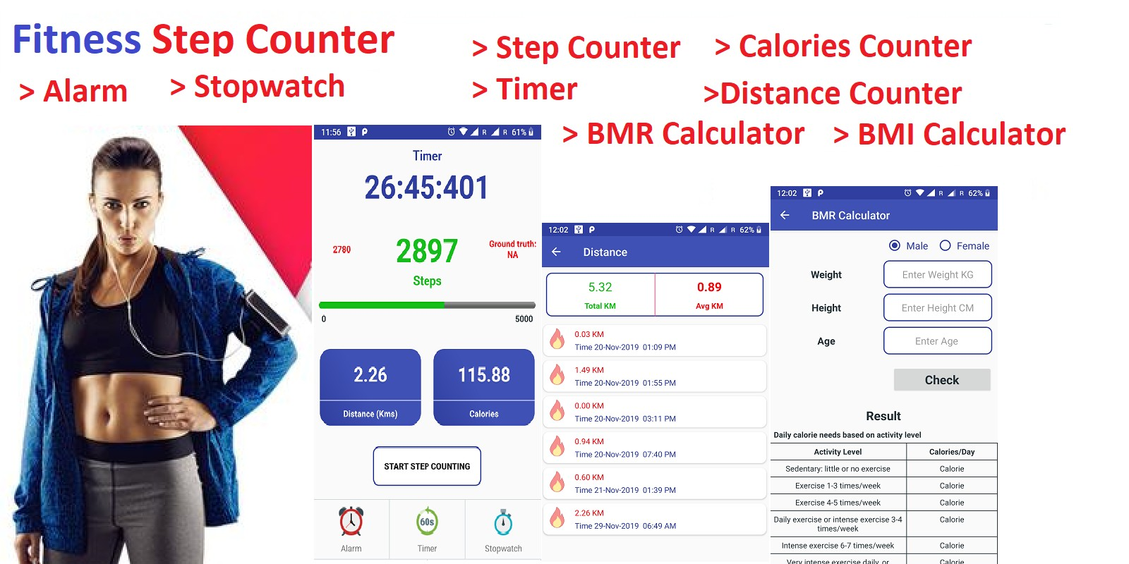 Fitness Step Counter - Android App Template