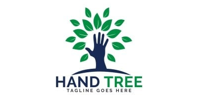 Hand Tree Logo Design