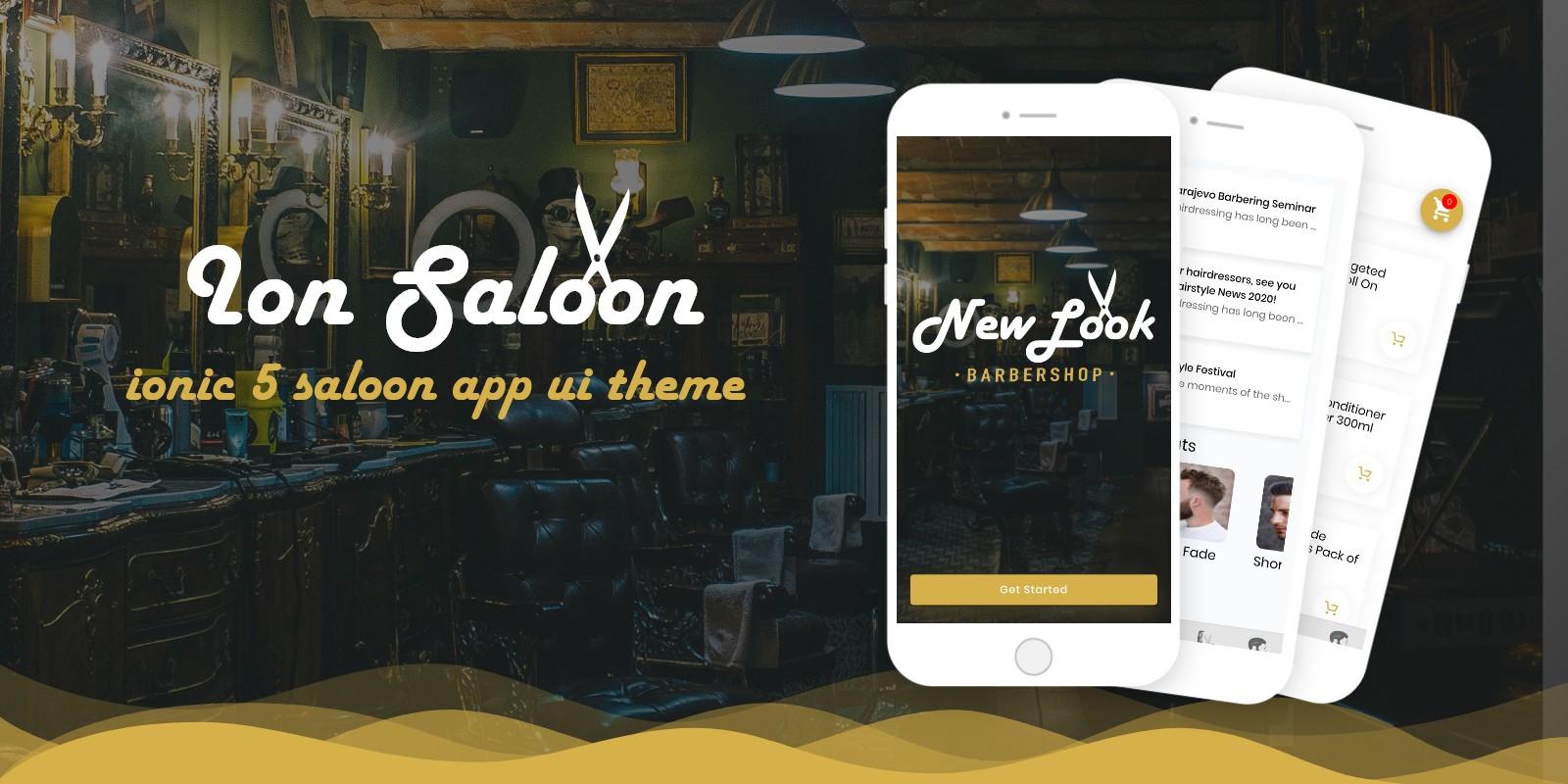 Ion Saloon - Ionic 5 Barbershop UI Theme