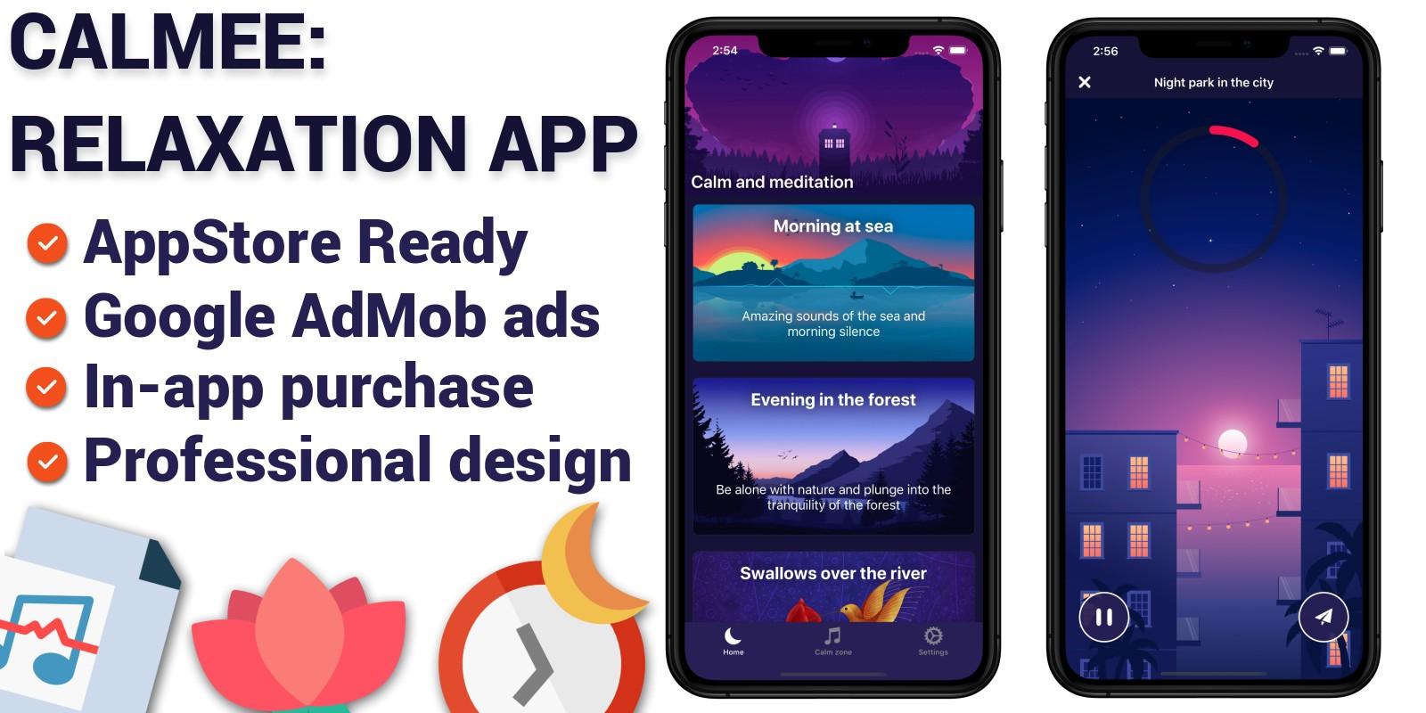 Calmee - Relaxation iOS Application