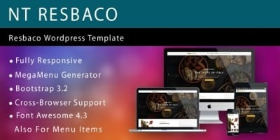 NT Resbaco – Wordpress Restaurant Theme