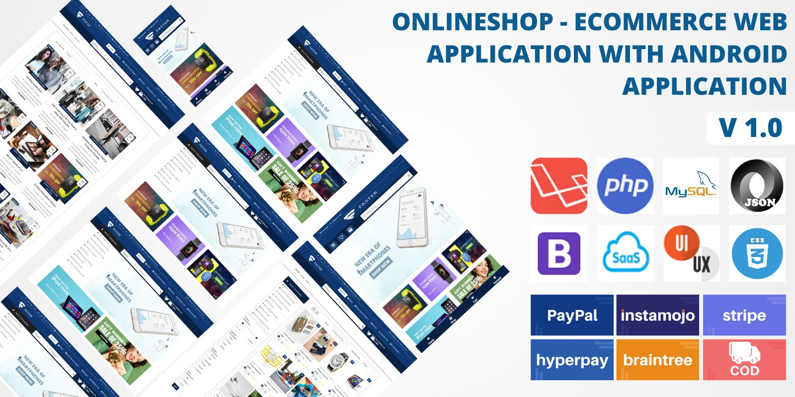 Online Shop - Ecommerce Web And Android App