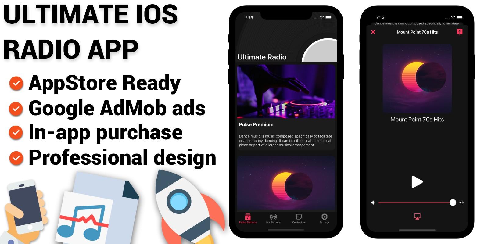 Ultimate iOS Radio App Template