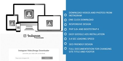 Instant Instagram Photos and Videos Downloader PHP