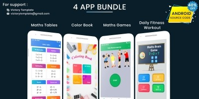 4 Android App Source Code Bundle
