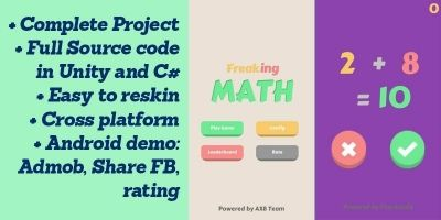 Freaking Math - Unity Game Source Code