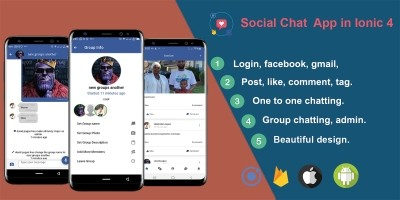 Social Chat - Ionic 4 Real-Time Firebase