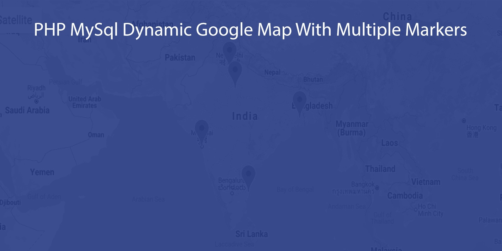 PHP MySql Dynamic Google Map With Multiple Markers
