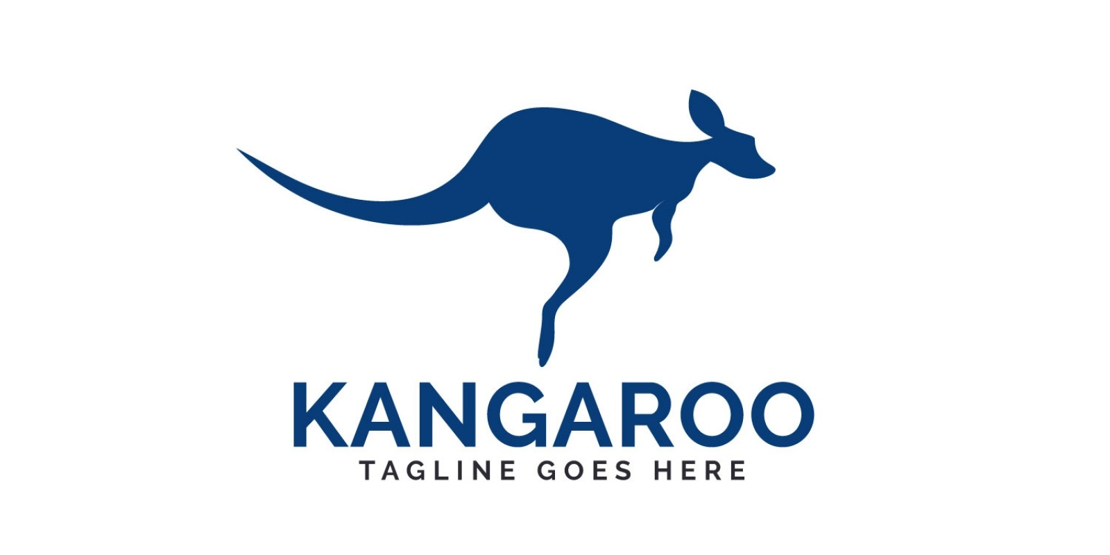 Kangaroo Vector Logo Design