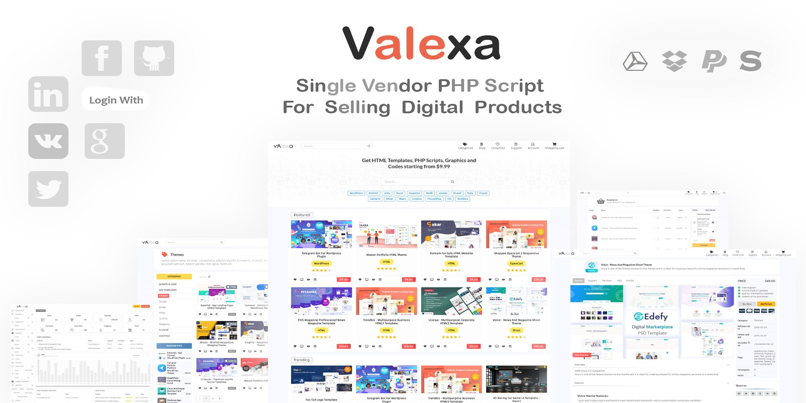 Valexa - Digital Products Store Software