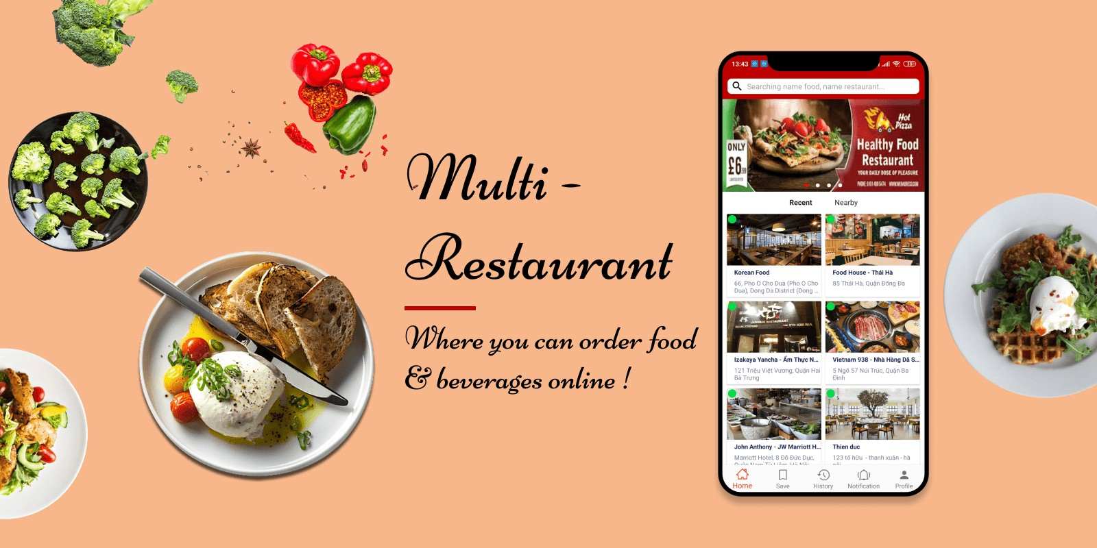 Multi Restaurants - Android App Template