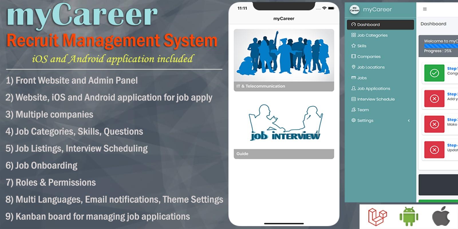 MyCareer – Recruit Management System