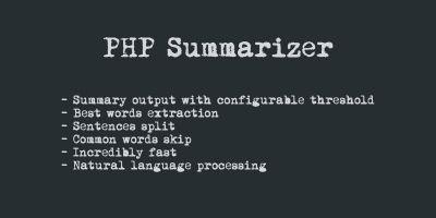 PHP Summarizer