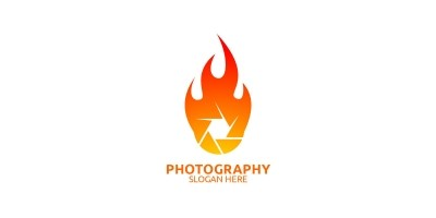 Fire Camera Photography Logo 60