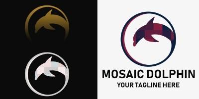 Mosaic Dolphin - Premium Logo