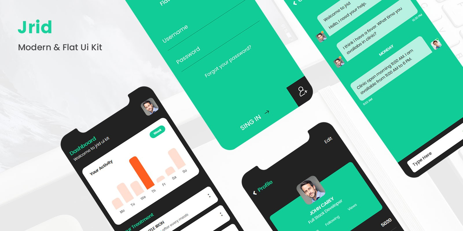 Jrid - Modern Flat UI kit Ionic