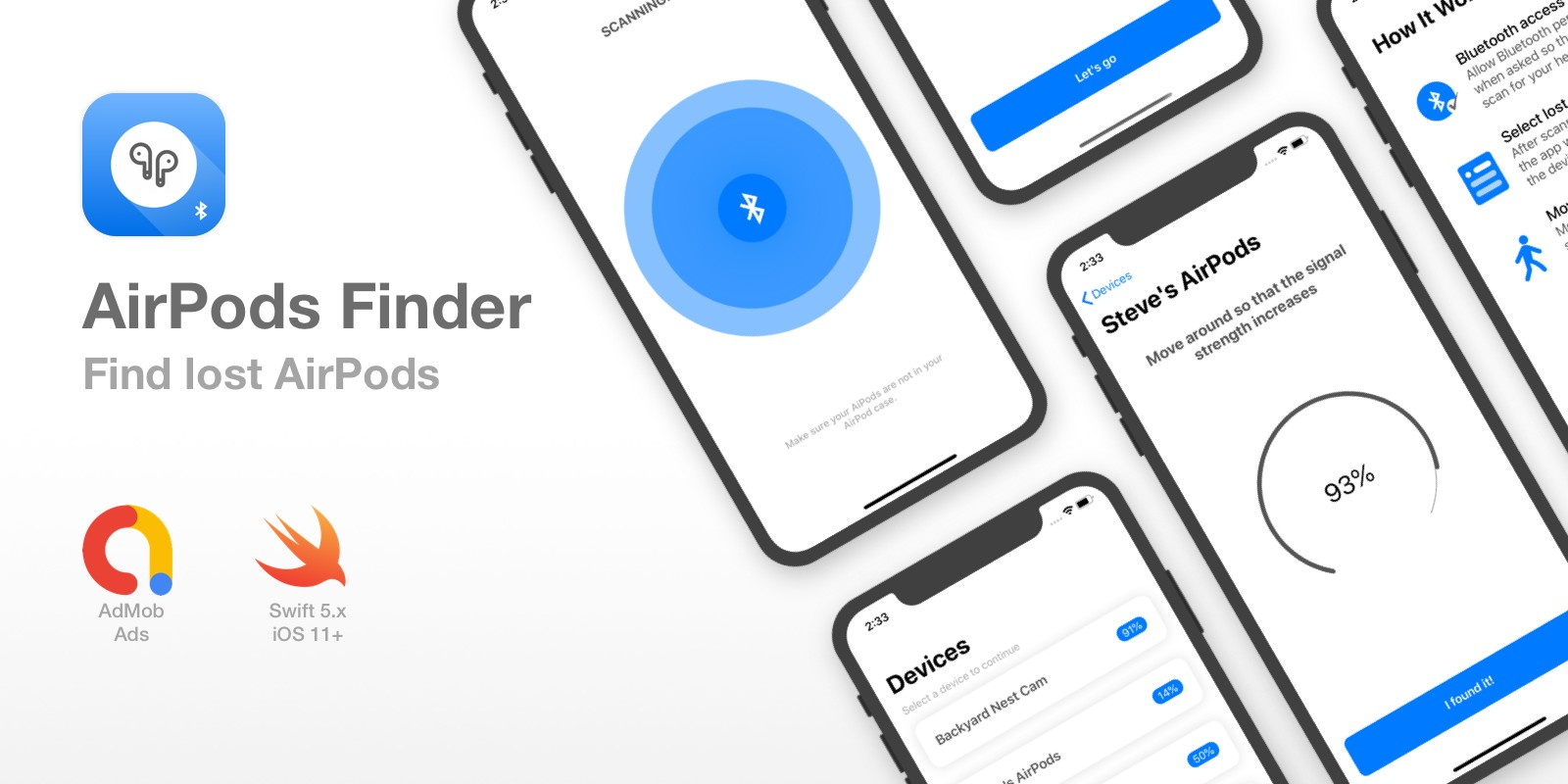 AirPods Finder - Locate Lost Bluetooth Headphones