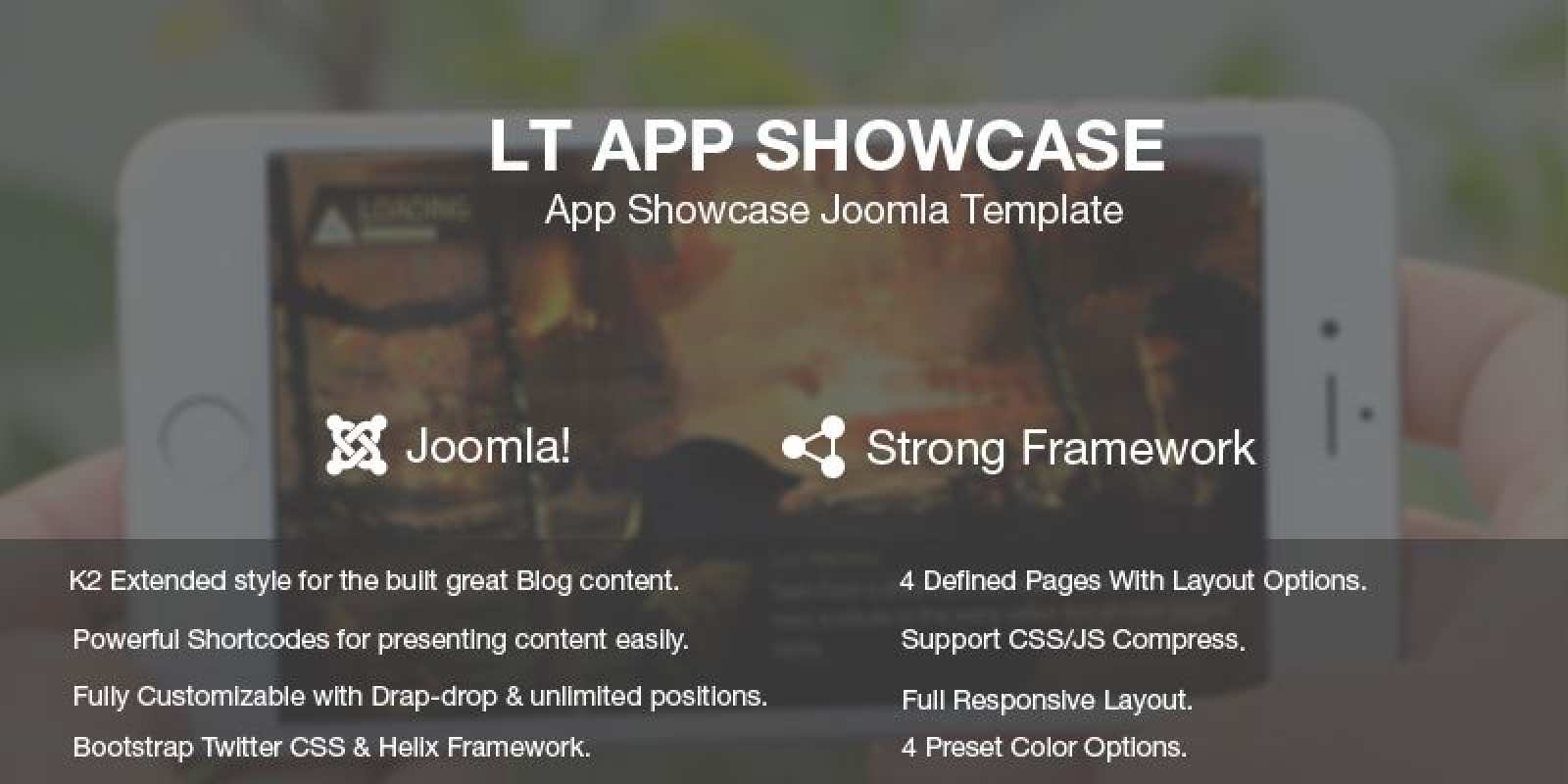 LT App Showcase – Joomla Template