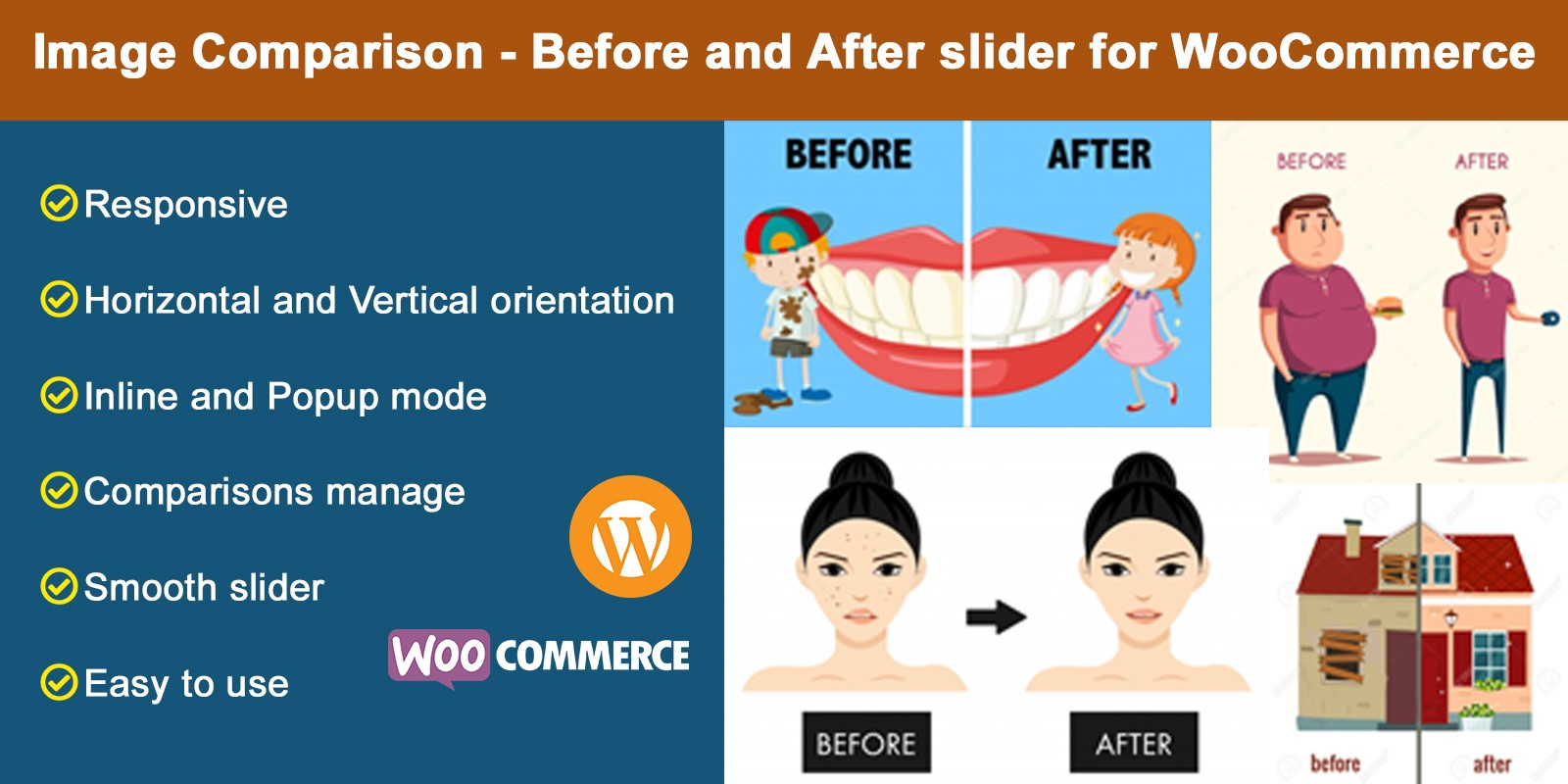 WooComme Image Comparison Before And After slider