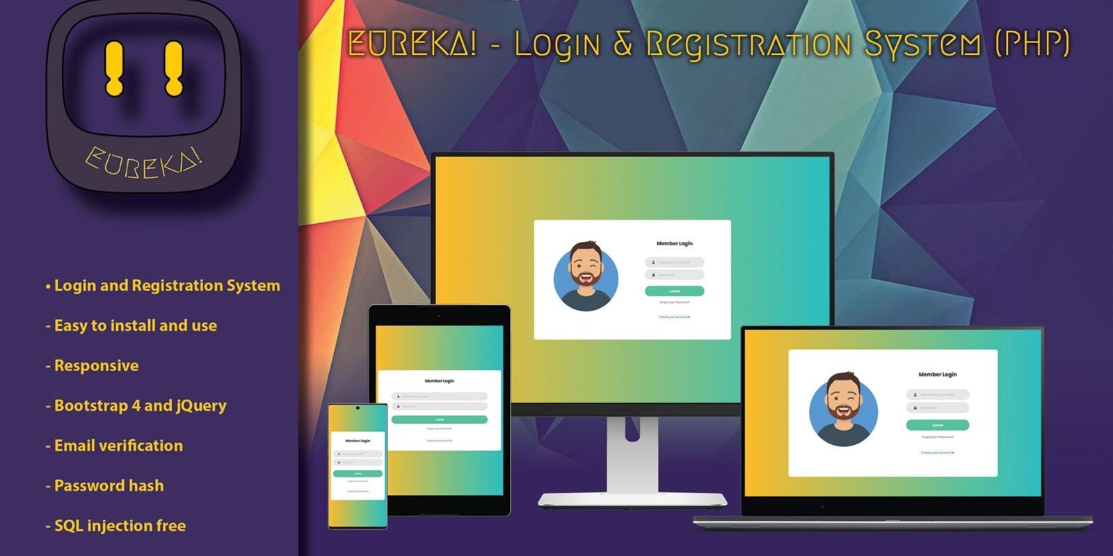 Eureka - Login And Registration System