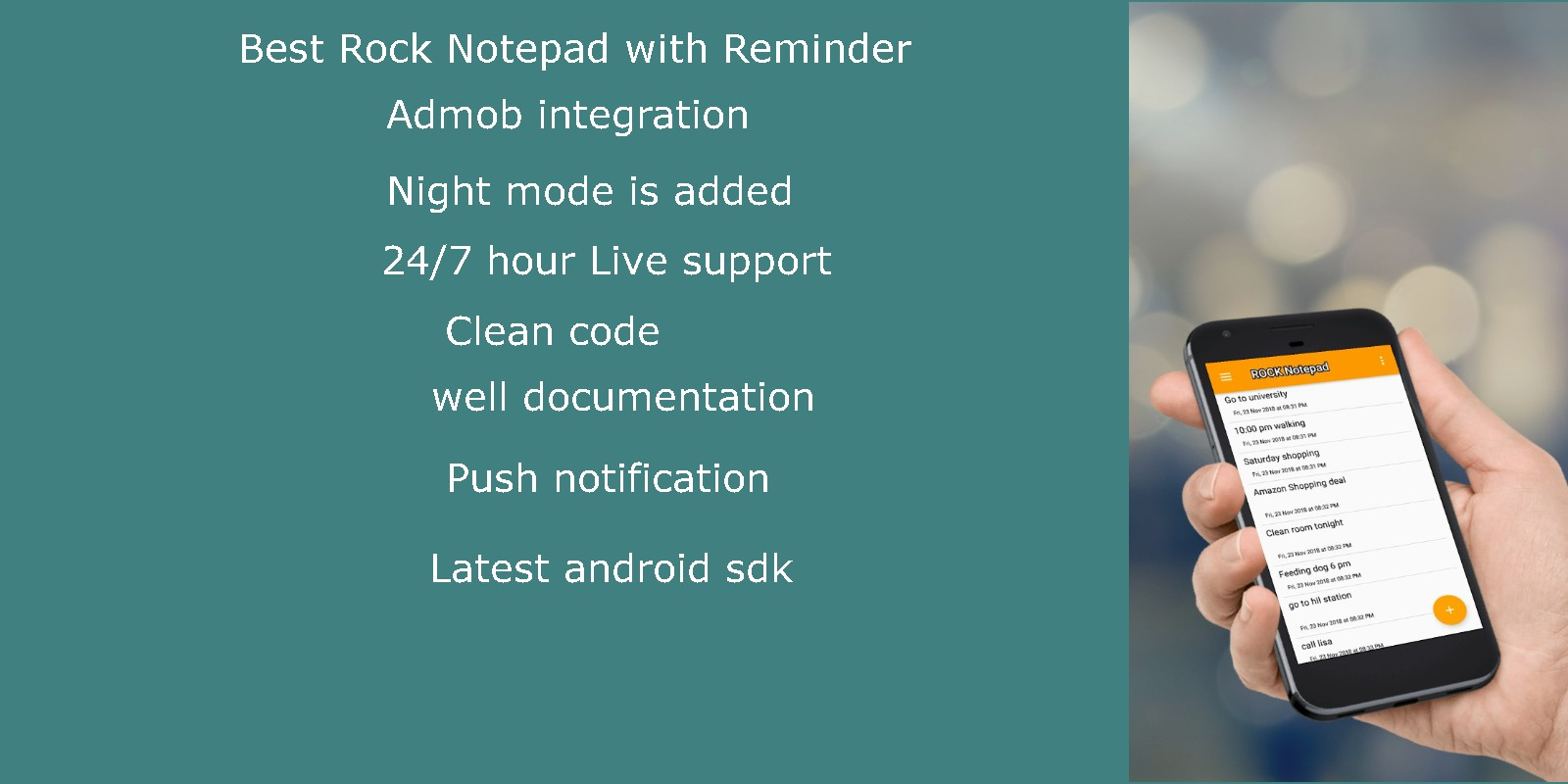 Notepad With Reminder Android App Template