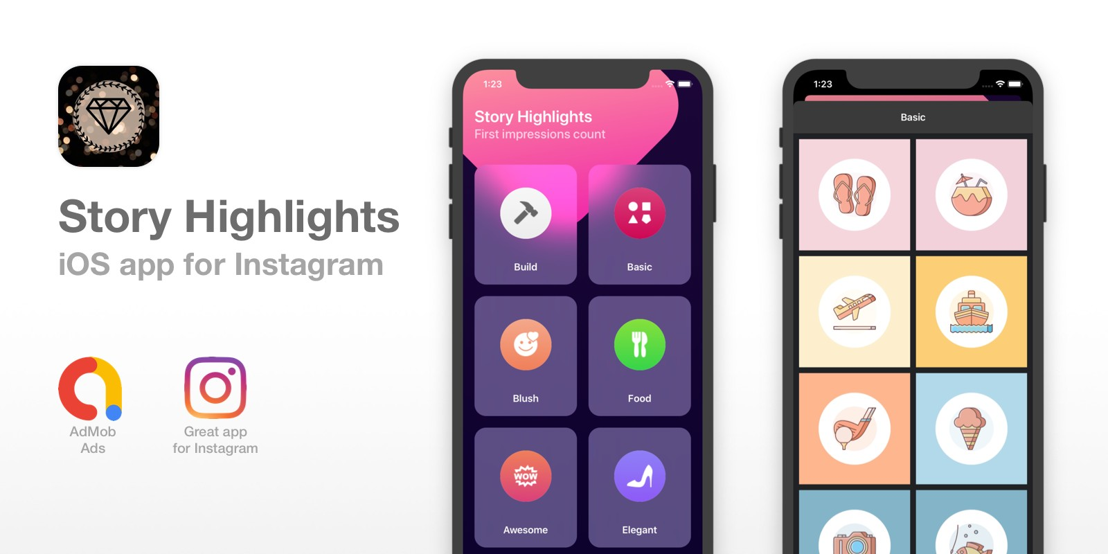 Story Highlights For Instagram - iOS App Template