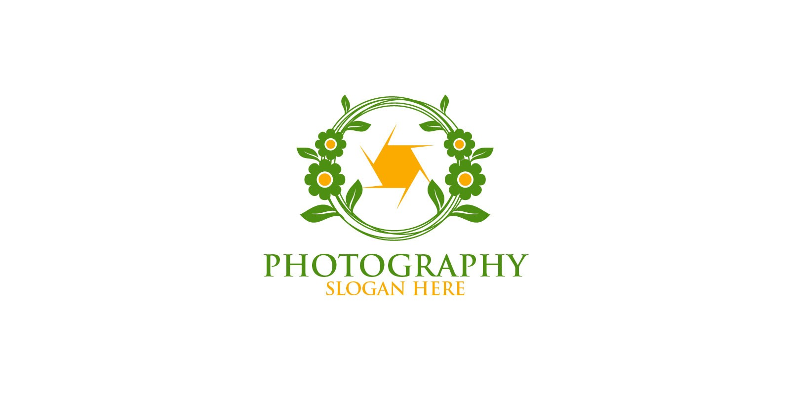 Nature wedding Camera Photography Logo